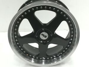 1979 1993 Mustang Sve Saleen Sc Style Wheel Black With Machined Lip Amp Rivets 1