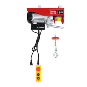 Electric Hoist 600kg Winch Lifting Engine Crane Lift Hook Hanging Cable Pulley