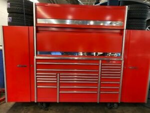 Red Snap On Krl Master Series Tool Box Chest Plus Hutch Upper And Side Cabinets