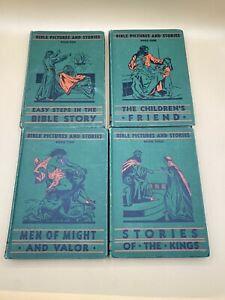 Pacific Press Bible Pictures and Stories Set of 4 Book 1 4 1920#x27;s $39.99