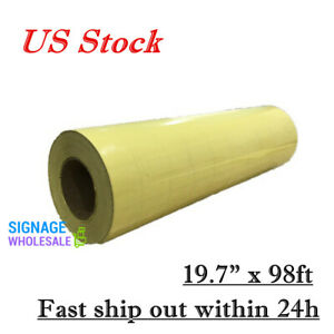 Us Stock 20 X 98 Roll Application Tape For Image Transfer Yellow Paper Based