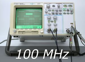 Hp Agilent 54622a 2 channel 100 Mhz Oscilloscope 100mhz Probes Very Clean