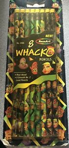 Rose Art Whacko 8 Pack 2 Lead Pencils Real Wood New