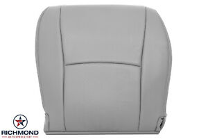 For 2004 2013 Toyota Highlander Driver Side Bottom Leather Seat Cover Gray Fits Toyota