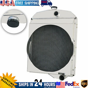 For Oliver Tractor Radiator 1550 1555 1600 1650 1655 Models 163342as 163343as