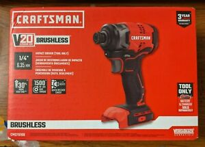 Craftsman 20v Lith Ion 14 Impact Driver Tool Only Cmcf810b Brand New