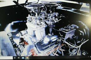 Model Parts Engine 396 With 2 4 Barrell Carbs Pro Street Engine