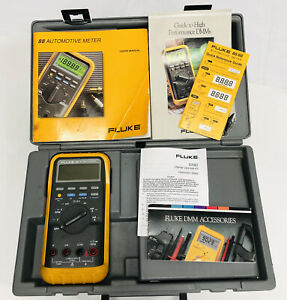 Fluke Md 88 Automotive Meter Set W cables Case Users Manual