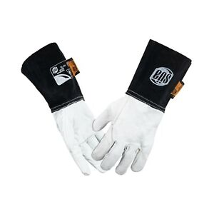 Sa Tig Welding Gloves Pearl Goat Grain Leather With 6 Cow Split Leather Cuff