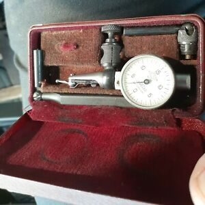 Alina No 88 Dial Indicator In Metal Case W 2 Contact Points Height Gage Bar