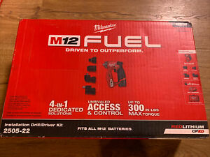 New Milwaukee M12 Fuel Installation Drill driver 4 in 1 Attachments Bag 2505 22