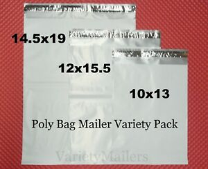 90 Poly Bag Mailer Medium Large Variety Pack 2 5 Mil Quality Shipping Bags