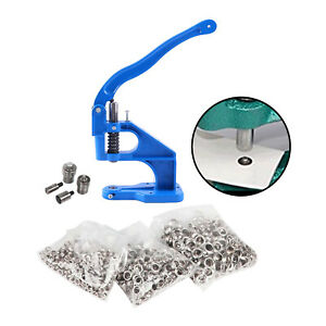 3 Die Grommet Hand Press Machine Setting Snap Button Rivets Eyelet Leathercrafts $57.57