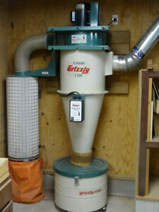 Grizzly G0440 2hp Cyclone Dust Collector W Accessories Excellent Condition
