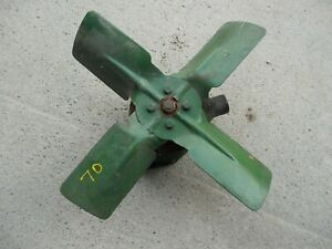 Oliver 70 Tractor Original Engine Motor Water Pump Assembly W Fan Pulley