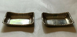 Two 2 Reed Barton Sterling Silver Trajan X303 Rolling Tray Ashtrays 3 X2