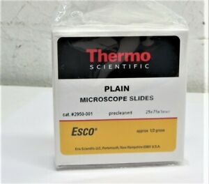 Thermo Scientific 2950 001t Plain Microscope Slides 72 Pcs lot Of 2 New Boxes
