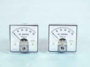 Two Simpson Dc Amperes Panel Ammeters