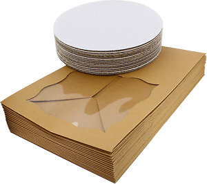 Spec101 Square Cake Boxes With Window 15pk Disposable Cake Container With Cake