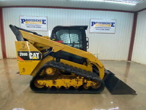 2014 Cat 299d Cab Skid Steer Track Loader With A c And Heat High Flow