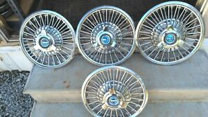 Ford Mustang 14 Hubcaps Wire Wheel Covers 1965 1966