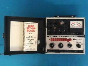 Sencore Model Tc162 Mighty Mite Vii Tube Tester W Manual book tested Working
