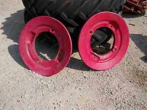 Oliver 70 80 Tractor Orignal Rear Rear Wheel Weights For Press Steel Center Hubs