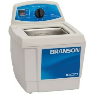 Branson M1800h Ultrasonic Cleaner With Mechanical Timer And Heat 0 5 Gal