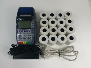 Verifone Vx570 Omni 5700 Credit Card Terminal With 16 Rolls Of Paper