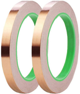 2 Pack Copper Foil Tape 0 5inch X 66 Ft Double sided Conductive Copper Tape With