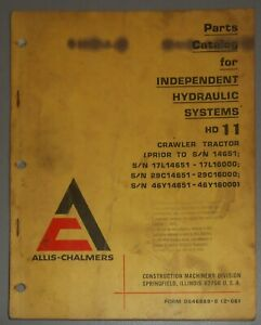 Allis Chalmers Hd11 Crawler Tractor Parts Catalog Independent Hydraulic System