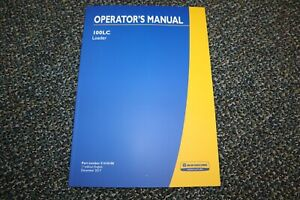 Used New Holland 100lc Loader Operator Manual Free Shipping
