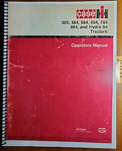 Case Ih 385 484 584 684 784 884 Hydro 84 Tractor Owner Operator Manual 1258519c7
