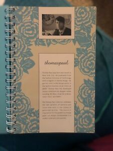 Mead Planning Notebook Teal Floral 2012 Lined Paper Thomas Paul Design Planner