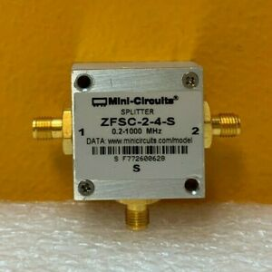 Mini circuits Zfsc 2 4 s 0 2 To 1 Ghz Sma f Power Splitter combiner Tested