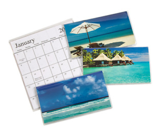 1 2022 2023 Two Year Planner Pocket Calendar Assorted Beach Paradise Free Ship
