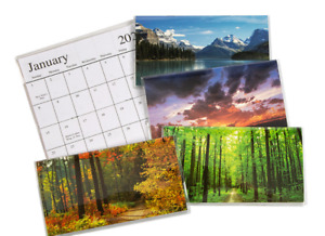 1 2022 2023 Two Year Planner Pocket Calendar Assorted Nature Scenes Free Ship
