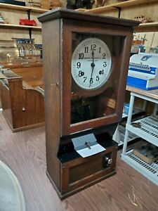 Vintage The Cincinnati Time Recording Co Time Punch Clock Working Condition