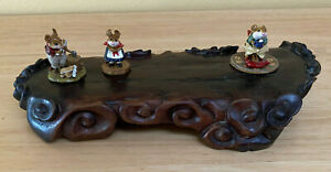 Intricately Carved Rose Wood Display Stand Great To Display Collectible Items