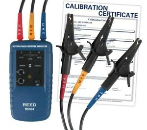 Reed Instruments R5004 nist Motor Rotation And 3 phase Tester