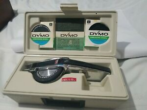 Dymo Labeling 1570 Chrome Label Maker With 2 Embossing Wheels Carry Case