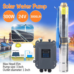 24v 3 Solar Deep Water Well Pump S steel Submersible Screw Controller Kits 300w
