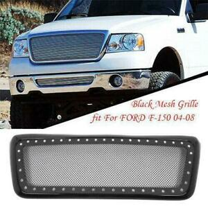 New Abs Plastic Amp Stainless Steel Front Bumper Grille Fit Ford F 150 04 08