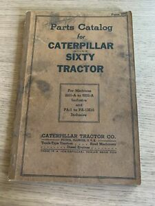 Parts Catalog For Caterpillar Sixty Tractor form 3757
