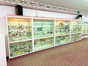 Lot Of 4 Retail Store Glass Lighted Showcase Display Cases Pickup Only