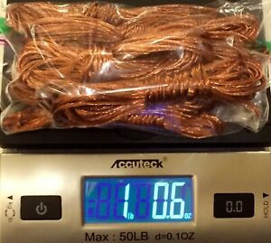 1 Pound Clean Bare Scrap Copper Wire Bundles Free Usps Priority Mail Shipping