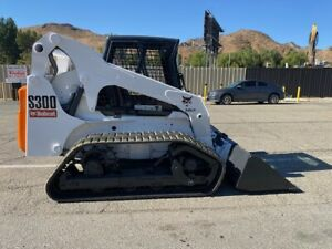 Bobct S300 Low Hours Inclosed Vts Tracks 81 Hp Very Clean Ex City Since New