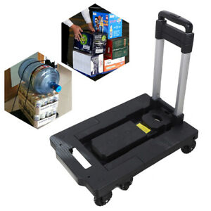 Folding Hand Truck Dolly Aluminum Hand Cart Portable Stable With 7 Wheels