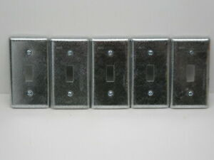 Lot Of 5 Raco 865 Electrical Box Cover Single Toggle Switch 1 Gang