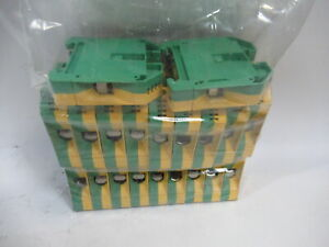 Weidmuller Wpe 35 Terminal Block Lot Of 20 Green Yellow Used
